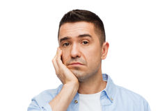 Sad middle aged man Royalty Free Stock Photography