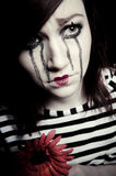 Sad mime Royalty Free Stock Photos