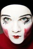 Sad mime. Portrait of the sad mime Royalty Free Stock Photo
