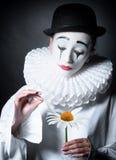Sad mime Pierrot Royalty Free Stock Photo