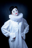 Sad mime Pierrot Royalty Free Stock Image