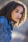 Sad Mixed Race African American Teenager Woman Royalty Free Stock Image
