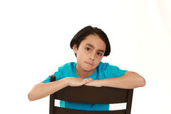 Sad mixed race boy Royalty Free Stock Image