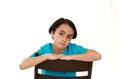 Sad mixed race boy royalty free stock image