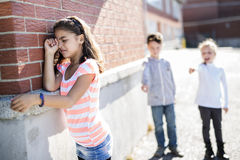 Elementary Age Bullying in Schoolyard Stock Photos