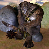 Sad Monster. 3d rendering  of a sad monsters as illustration Stock Image