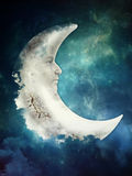 Sad moon Stock Photo