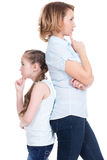 Sad mother and daughter having problem Stock Images