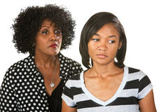 Sad Mother and Daughter Stock Photo