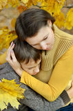 Sad mother with son Royalty Free Stock Photography