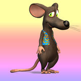 Sad mouse character Stock Photos