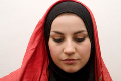 Sad muslim woman Stock Photo