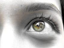 Sad n' Wondering. A beautiful eye sad and wondering Stock Image