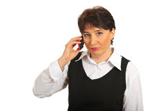 Sad news by phone mobile Royalty Free Stock Photography
