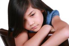 Sad nine year old girl Royalty Free Stock Photo