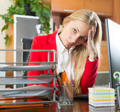 Sad office worker Royalty Free Stock Photos