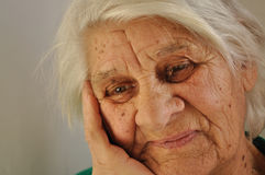 Sad old age Royalty Free Stock Image