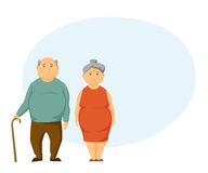 Sad old couple Stock Photography