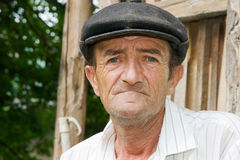 Sad old man. Portrait of a sad old man outdoors Royalty Free Stock Photos