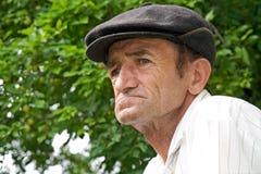 Sad old man. Portrait of a sad old man outdoors Royalty Free Stock Photo