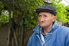 Sad old man. Retired man outdoors stock images