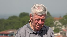 Sad Old Man Or Depressed Senior Stock Photo