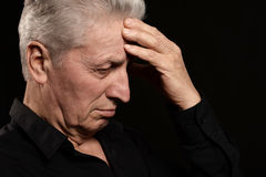 Sad old man. Portrait of a sad old man close-up Royalty Free Stock Photos