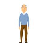Sad old man. Stands. unhappy elderly man royalty free illustration
