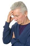 Sad old man on white. Sad old man on a white background Royalty Free Stock Photo