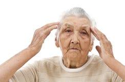 Sad old woman Stock Image