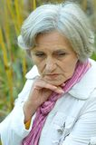 Sad old woman Royalty Free Stock Image