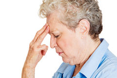 Sad older woman Royalty Free Stock Photos