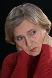 Sad older woman Royalty Free Stock Photo