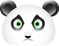 Sad panda face with tears in his eyes Stock Photo