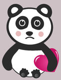 Sad Panda Illustration Royalty Free Stock Photos