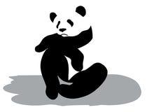 Sad panda. A sad panda sits on earth Stock Image