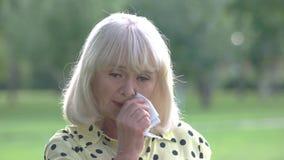 SAD pensionär för lady arkivfilmer