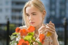 Sad pensive woman Royalty Free Stock Image