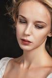 Sad pensive woman Royalty Free Stock Images