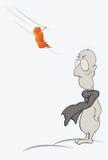 Sad person. Cartoon Stock Images