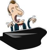 Sad Piano Player Royalty Free Stock Image