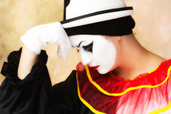 Sad Pierrot Royalty Free Stock Photos