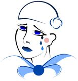 Sad pierrot Royalty Free Stock Images