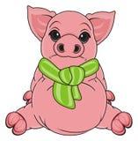 Sad pig sit Royalty Free Stock Photo