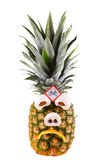 Sad pineapple Stock Photography
