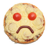 SAD pizza Royaltyfri Foto