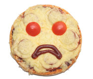 Sad pizza Royalty Free Stock Image