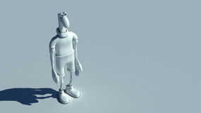 Sad Plasticine man Royalty Free Stock Image