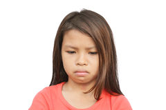 Sad Poor Child. Portrait of a sad poor child with a sad crying expression Stock Photography