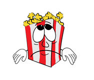 Sad Pop corn cartoon Stock Images